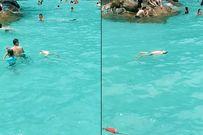 Cháu bé suýt đuối nước giữa hàng trăm người không ai biết: Lãnh đạo khu vui chơi nói gì?