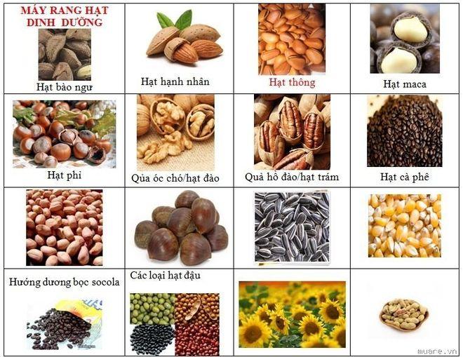 Các loại hạt bổ sung nhiều dưỡng chất cho cơ thể