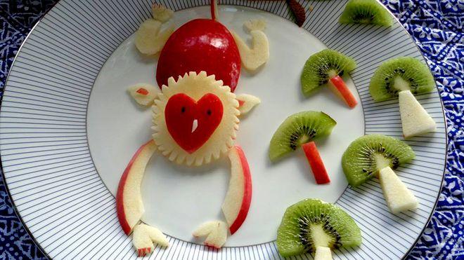 trang trí món ăn cho trẻ