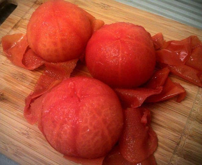 bóc cà chua