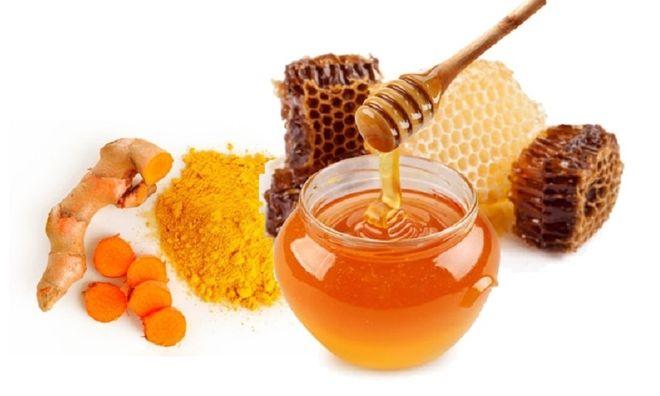 nghệ kết hợp mật ong