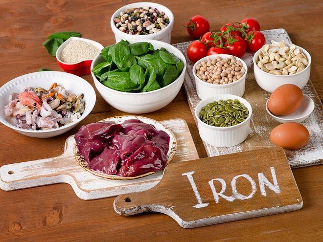 thực phẩm nhiều sắt