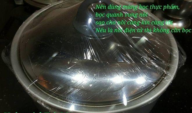 bọc mang bọc thực phẩm cho kín vung