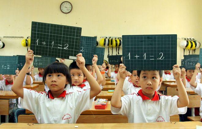 trẻ học toán