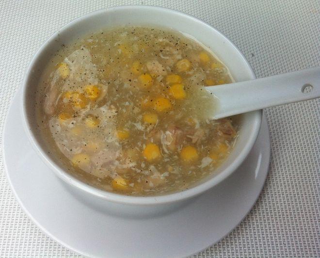 súp ngô gà ấm bụng