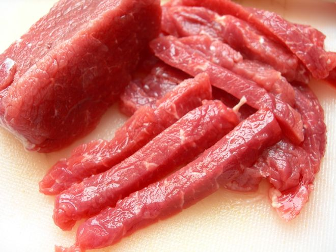 thịt lợn cắt lát