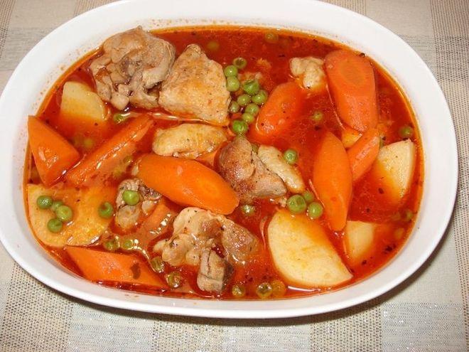 đậu nấu thịt gà