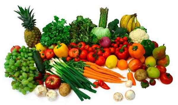 rau củ quả đa dạng