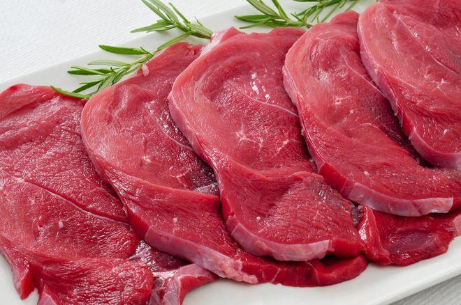 thịt bò cắt lát dọc