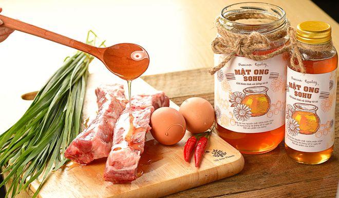 nguyên liệu rán thịt lợn với mật ong