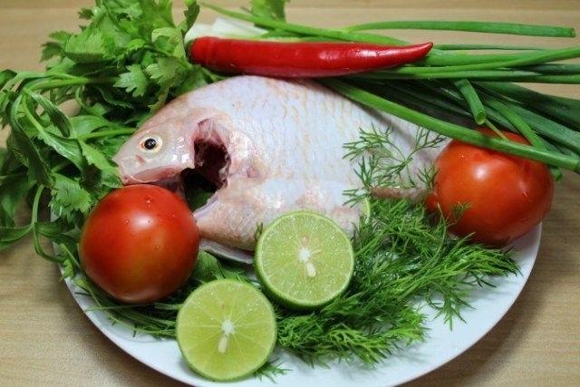 nguyên liệu cho canh cá nấu thì là