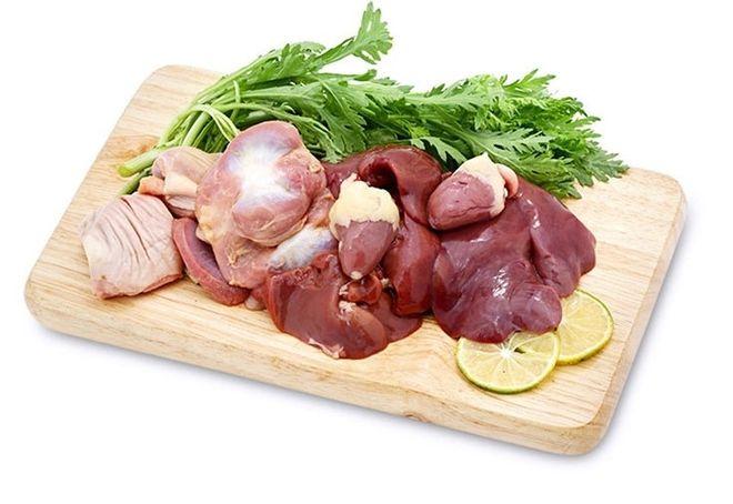 nguyên liệu cho bún khô xào lòng gà