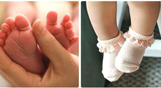 bàn chân em bé