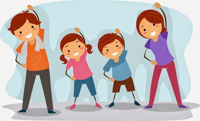 4 người tập thể dục