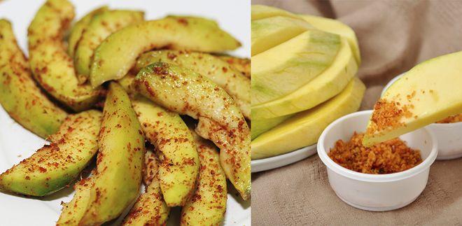 muối ớt chấm hoa quả