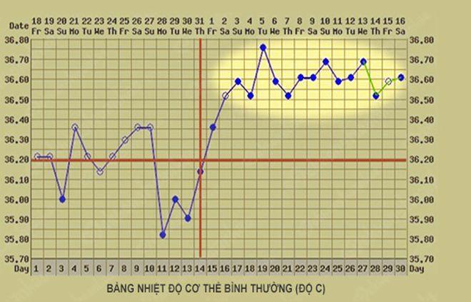 Theo dõi nhiệt độ riêng bằng biểu đồ, đặt ngày bắt đầu từ mỗi đồ thị và bắt đầu theo dõi và ghi lại kết quả mỗi ngày.