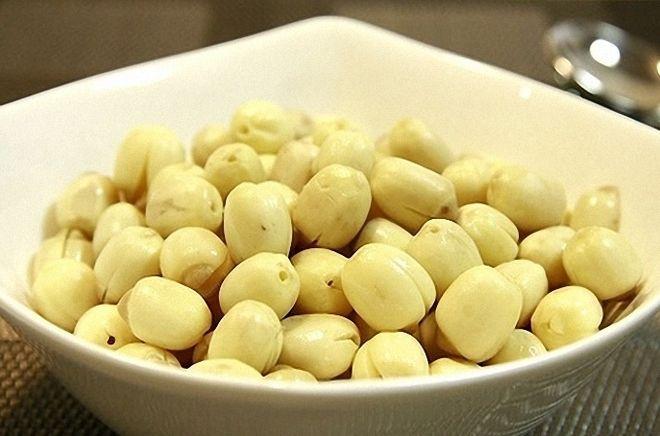 hạt sen bóc vỏ