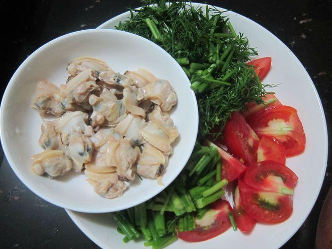 ngao sau khi luộc tách vỏ lấy thịt