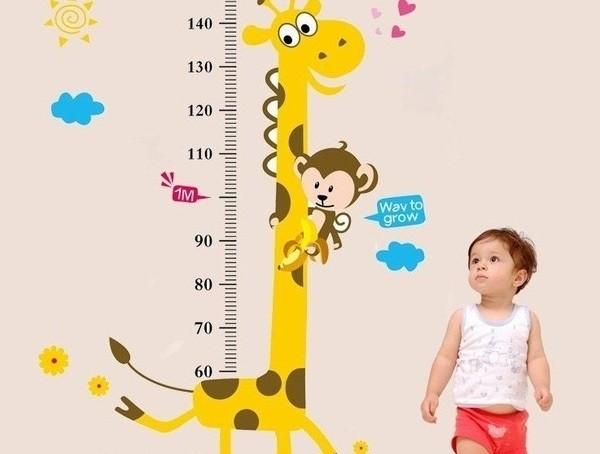 bảng chiều cao của bé