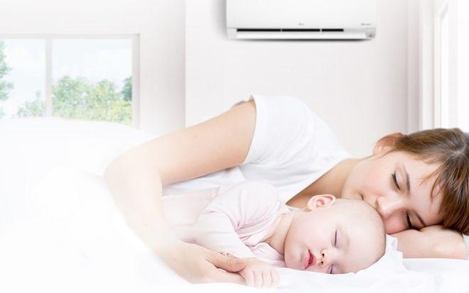 viêm đường hô hấp trên ở trẻ sơ sinh do nằm điều hòa