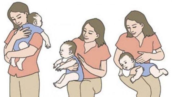 vỗ nhẹ cho trẻ ợ hơi sau khi bú