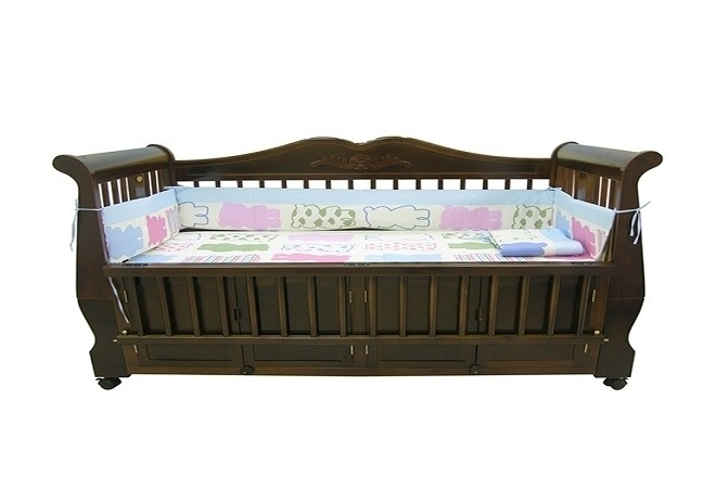 giường cũi cho bé trai 1 tháng tuổi