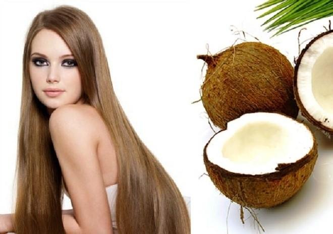 bà bầu nên dưỡng tóc với dầu dừa