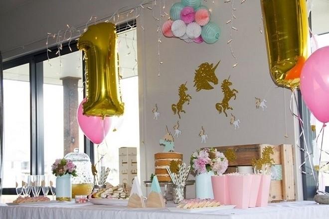 không gian buổi sinh nhật 1 tuổi cho bé
