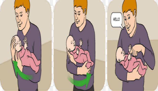 cách bồng trẻ sơ sinh an toàn