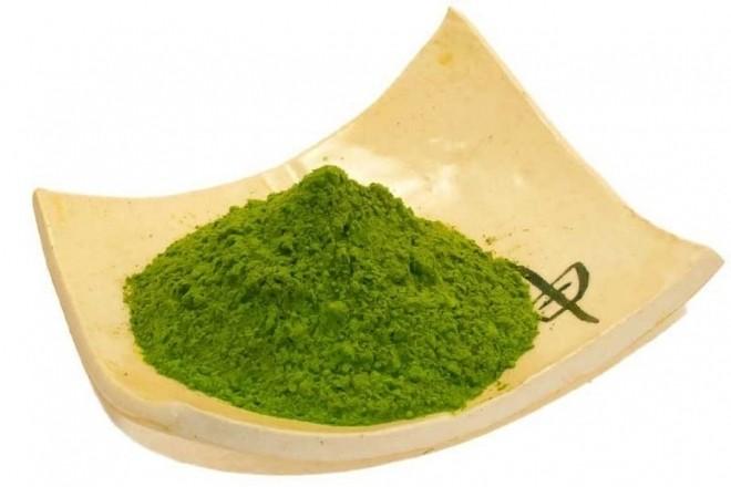 bột trà xanh đắp mặt