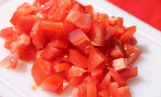 cắt nhỏ cà chua
