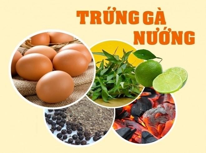 nguyên liệu làm trứng gà nướng kiểu Thái