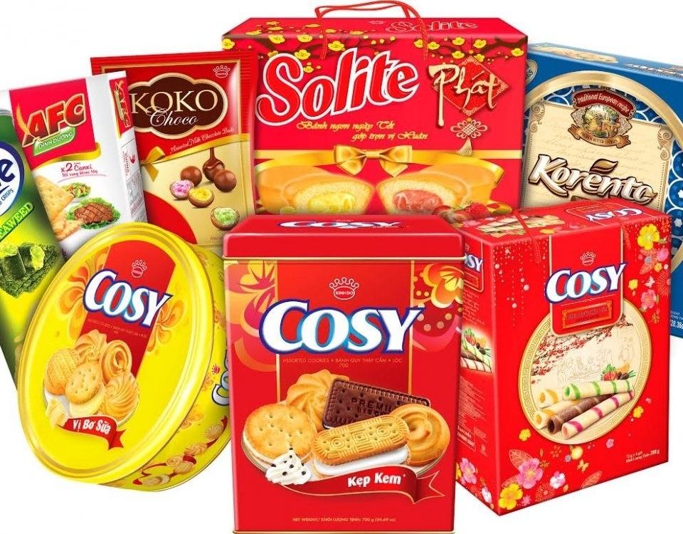 Bánh rất đa dạng về mẫu mã và dễ dàng mua, chọn lựa