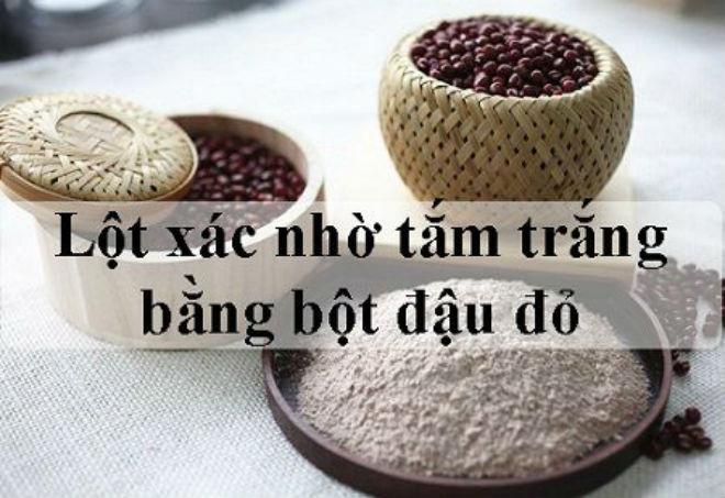 bột tắm trắng từ đậu đỏ nghiền