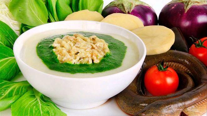 cháo dinh dưỡng và rau củ