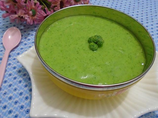 món cháo cá rau cải xanh