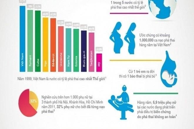 biểu đồ tỷ lệ phá thai