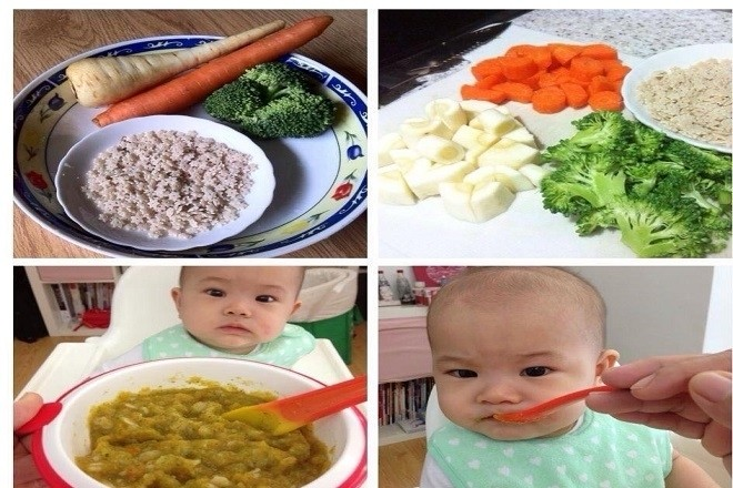 đa dạng thành phần và nguyên liệu nấu cháo ăn dặm cho bé