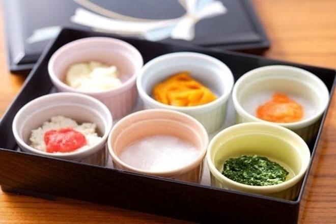 các món ăn dặm trong thực đơn kiểu Nhật
