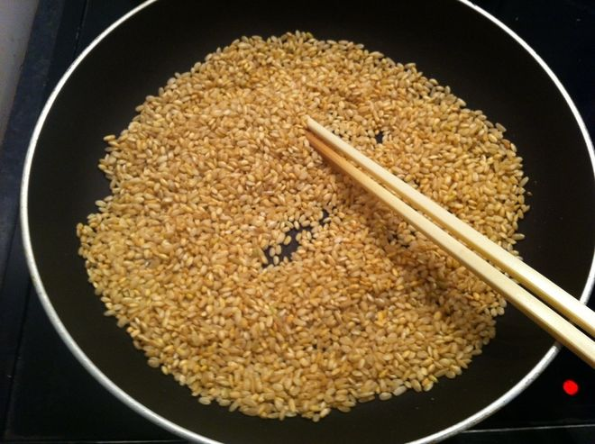 rang gạo và đậu