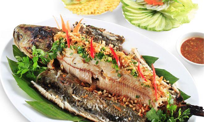 món cá nướng riềng xả thơm ngon, hấp dẫn