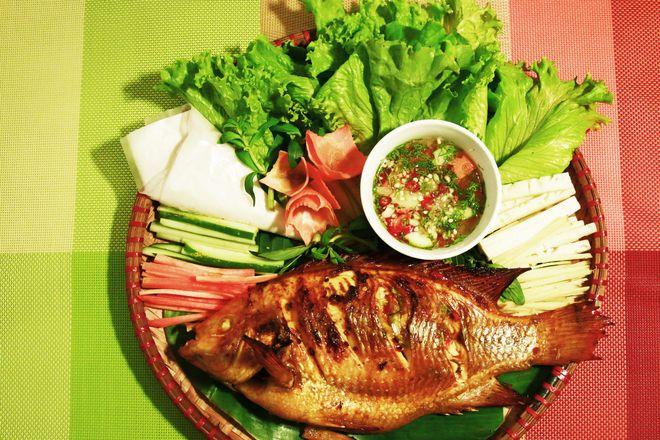 món cá nướng thành phẩm