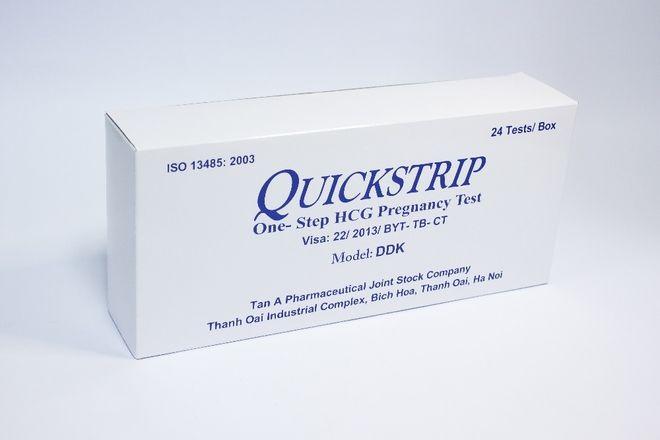 Que thử thai Quickstrip được nhập hoàn toàn từ Mỹ.