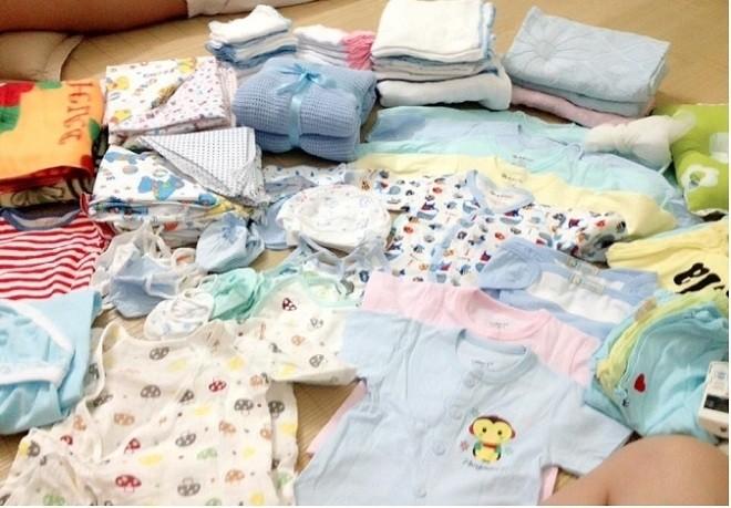 chuẩn bị đồ cho trẻ sơ sinh