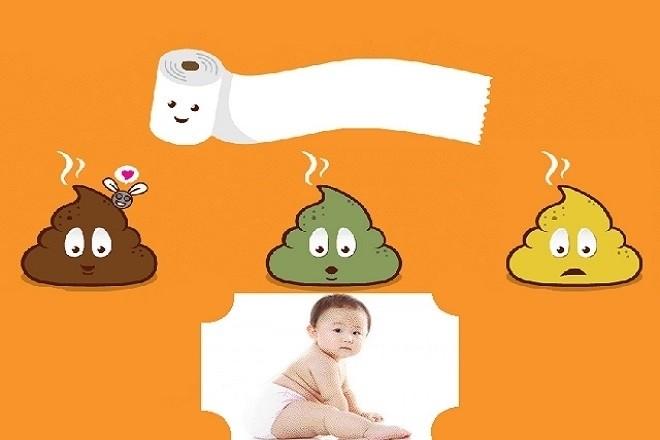 phân của trẻ sơ sinh bị tiêu chảy