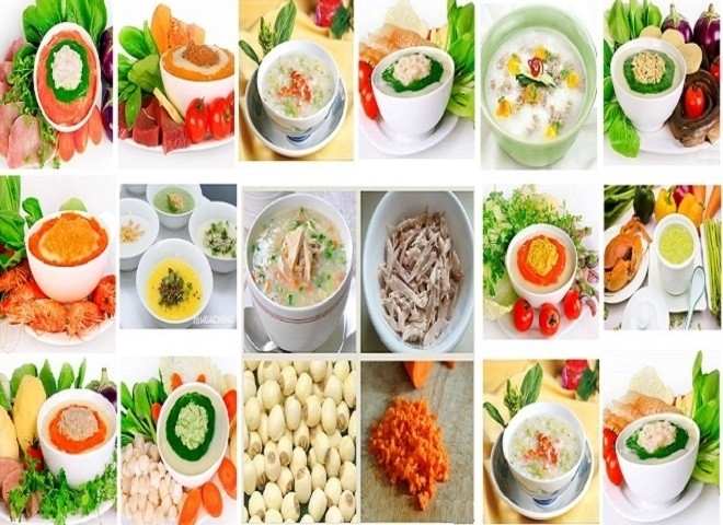 các món ăn bổ dưỡng cho bé