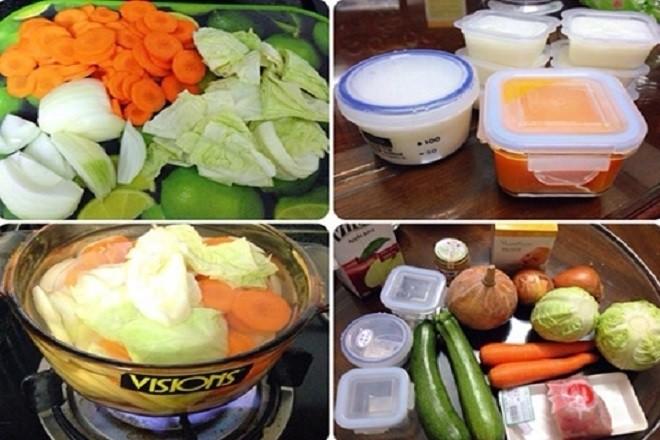 các loại rau củ có thể chế biến thức ăn dặm cho bé