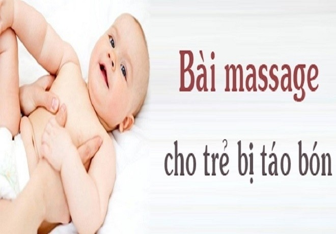 massage cho trẻ sơ sinh bị táo bón