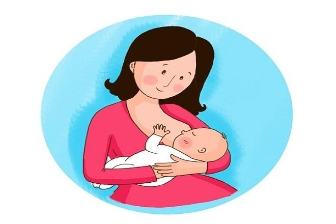 cho bé bú sữa mẹ