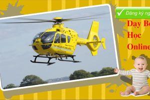 Dạy bé học máy bay trực thăng để nhận biết phương tiện